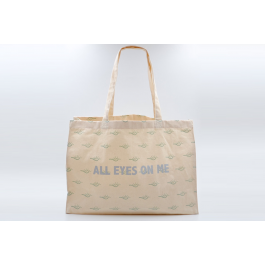 "CABAS IMPRIMÉ ""ALL EYES ON ME"""